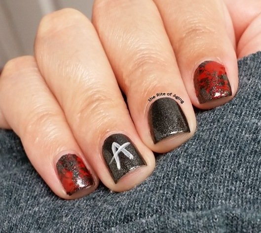 #RedCoatTuesday - Pretty Little Liars Finale Nail Art | The Rite of Aging