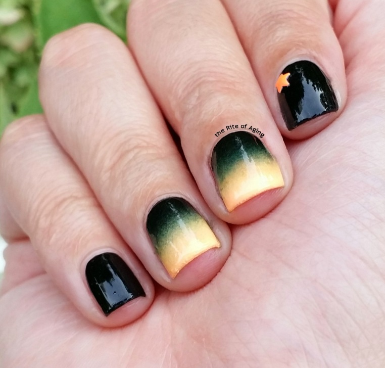 #31D2015 - Orange Gradient Nail Art | The Rite of Aging