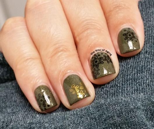 #31DC2015 - Metallic Floral #nailart | The Rite of Aging