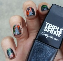 #31DC2015 - Orange and Green Smoke Nail Art | The Rite of Aging