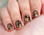#31DC2015 - Tortoiseshell Cat Animal Print Nail Art | The Rite of Aging