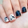 #31DC2015 - Black and White Glitter Nails | The Rite of Aging