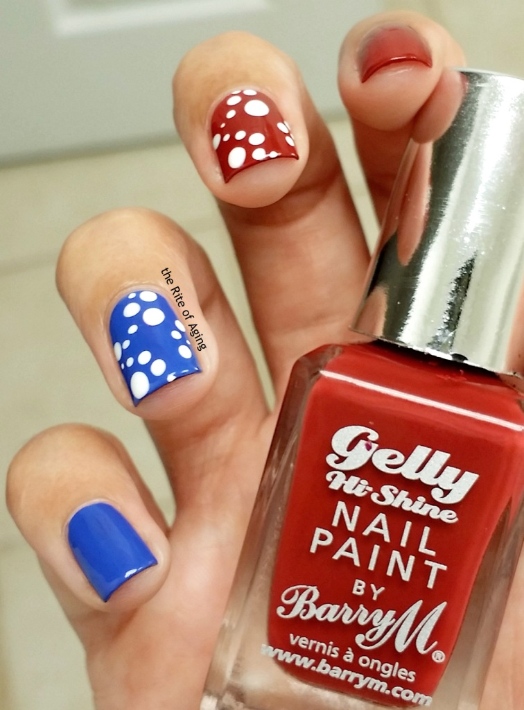 #31DC2015 - Patriotic Dotticure Nail Art | The Rite of Aging