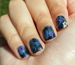 #31DC2015 - Galaxy w/ Star Studs Nail Art | The Rite of Aging