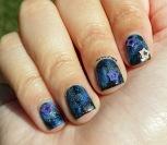 #31DC2015 - Galaxy w/ Star Studs Nail Art   The Rite of Aging