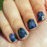 #31DC2015 - Galaxy w/ Star Studs Nail Art | The Rite of Aging