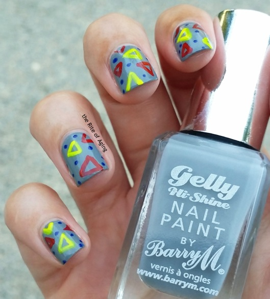 #31DC2015 - Freehand Geometric #nailart | The Rite of Aging