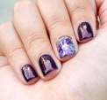 #31DC2015 - Purple Waterspotting #nailart   The Rite of Aging
