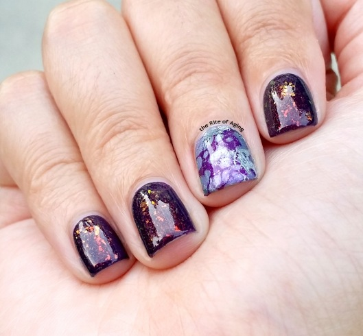 #31DC2015 - Purple Waterspotting #nailart | The Rite of Aging