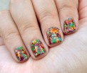 #31DC2015 - Rainbow #splatterpaint #nailart | The Rite of Aging