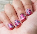 #31DC2015 - Marbled Stripes Nail Art | The Rite of Aging