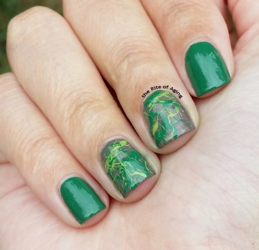 #31DC2015 - Green Splatter Recreation | The Rite of Aging
