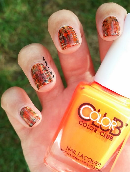 Halloween Dry Brush Nail Art | The Rite of Aging