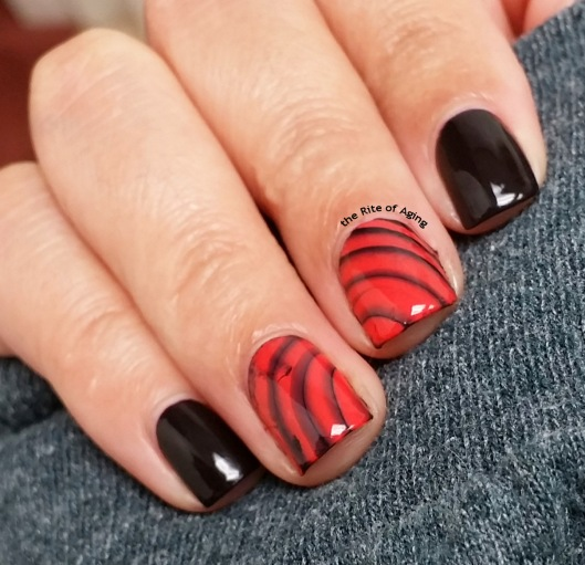 #31DC2015 - Watermarble Decals Nail Art | The Rite of Aging