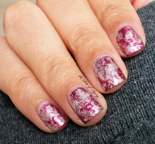 Starlight Saran-Wrap Nail Art | The Rite of Aging