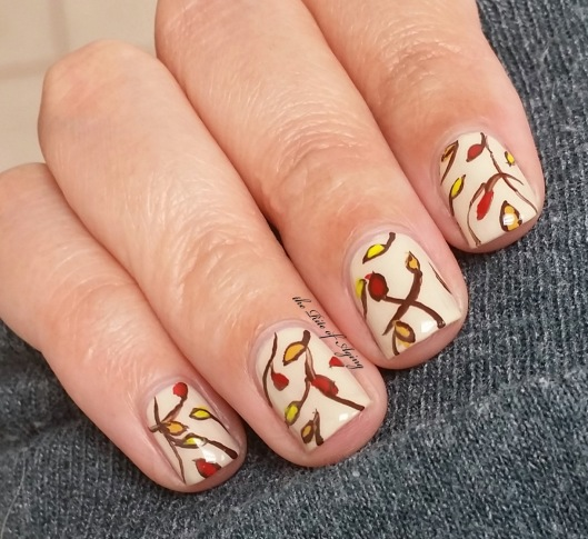 Freehand Autumn Leaves Nail Art | The Rite of Aging
