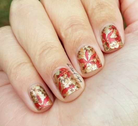Triple Stamping Fall Leaves Nail Art | The Rite of Aging