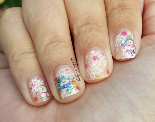 Pink Snow Globe Nail Art | The Rite of Aging