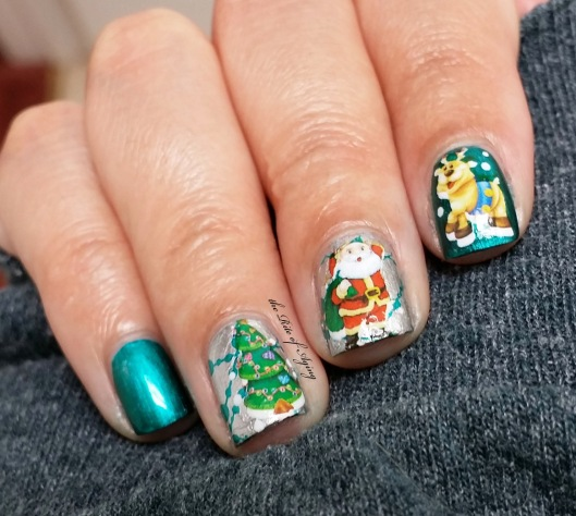 Christmas Water Decals Nail Art | The Rite of Aging