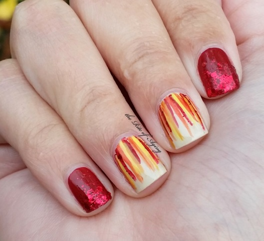 Autumn Waterfall & Glitter Nail Art + Video | The Rite of Aging