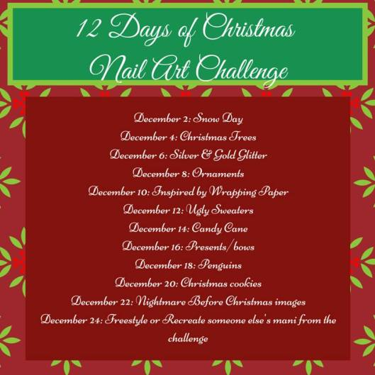 Challenge Your Nail Art - 12 Days of Christmas | The Rite of Aging