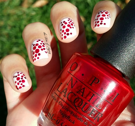 CYNA 12 Days of Christmas - Candy Cane Dotticure Nail Art and Video Tutorial | The Rite of Aging