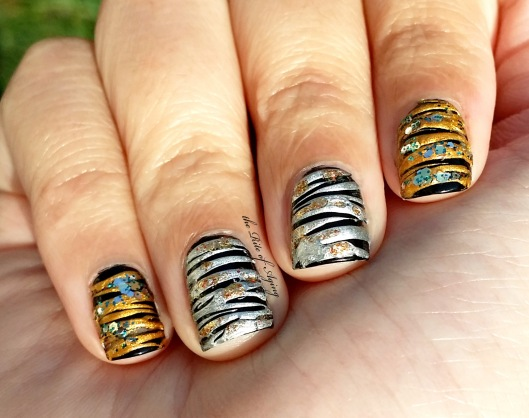 CYNA - 12 Days of Christmas: Gold & Silver Sugar-Spin Nail Art | The Rite of Aging