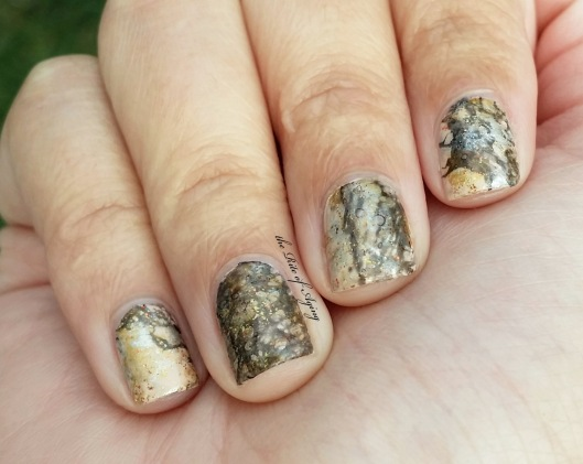 Natural Marble Water-Spotting Nail Art | The Rite of Aging