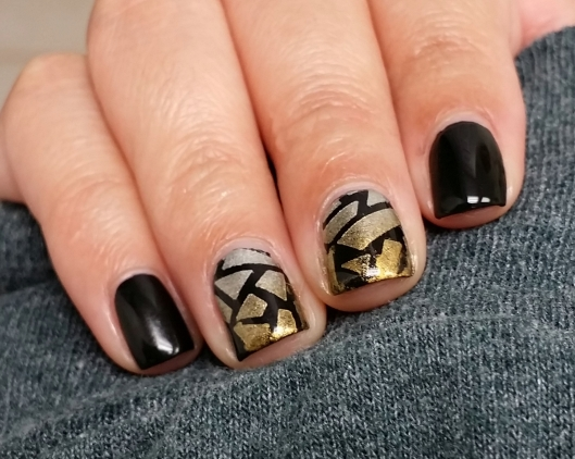 Metallic Stencil Gradients Nail Art | The Rite of Aging