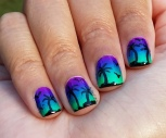 #31DC2016 - Beach Gradient Nail Art