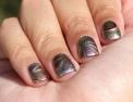 #31DC2016 - Metallic Watermarble Nail Art