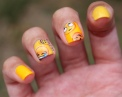 31 Day Global Nail Art Challenge (#31DC2016) - Day 3: Yellow Water Decal Nails