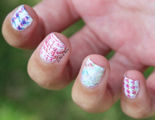 Born Pretty Store Full Nail Water Decal Review in Plaid