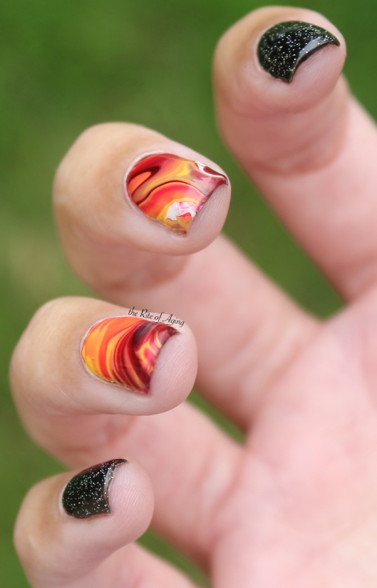 Fire Drip Marble side view