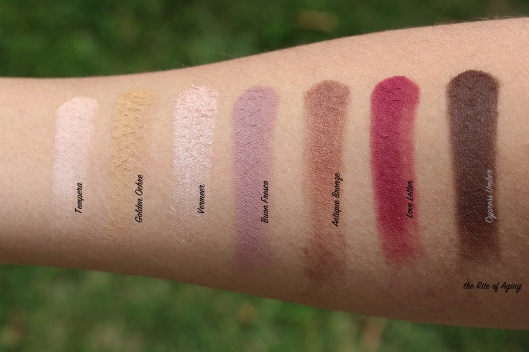 Anastasia of Beverly Hills Eye Shadow Palette Review - Swatches First Row