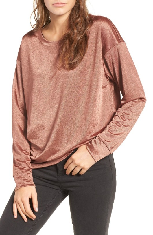 the Rite of Aging...Early's Best of Nordstrom Half Yearly Sale: SOCIALITE Metallic Pullover