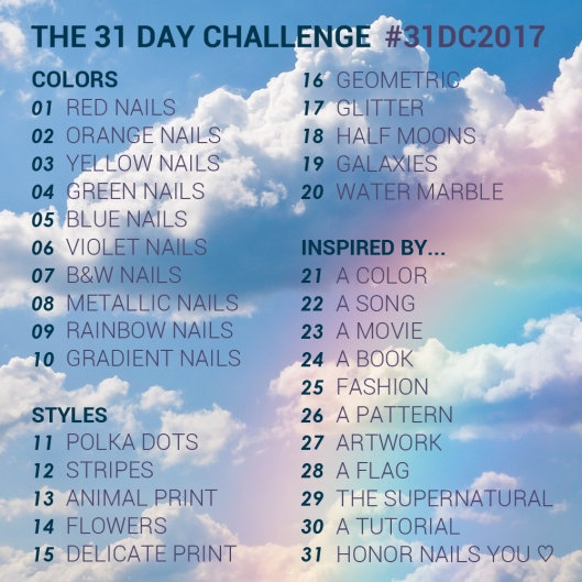 31 Day Global Nail Art Challenge - September 2017