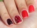 31 Day Global Nail Art Challenge (September 2017) - Day One: Red Ombre and Glitter Accent Nail Art - #31DC2017