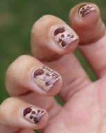 31 Day Nail Art Challenge (September 2017 - #31DC2017) Stamped Animal Footprint Nail Art