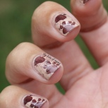 31 Day Nail Art Challenge (September 2017 - #31DC2017) Stamped Animal Footprint Nail Art