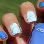 31 Day Nail Art Challenge (September 2017 - #31DC2017) Frozen Bubble Inspired Water Decal Nail Art