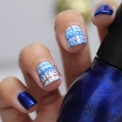 31 Day Global Nail Art Challenge (September 2017 - #31DC2017) Blue Water Decal Nail Art - ft. Born Pretty Store