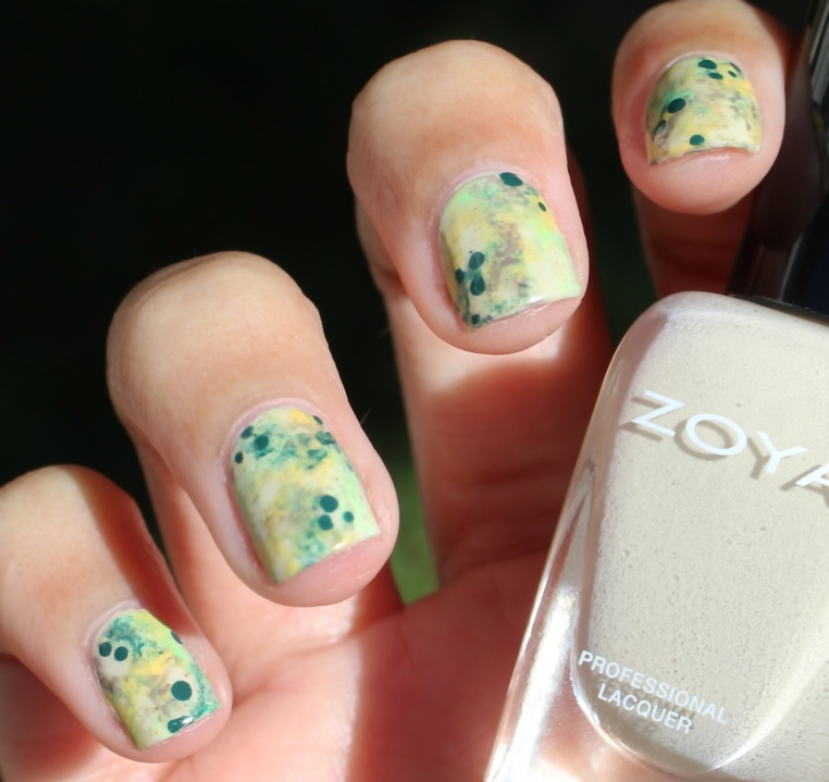 31 Day Nail Art Challenge (September 2017-#31DC2017) Fellowship of the Rings Inspired Watercolor Nail Art