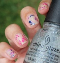 31 Day Nail Art Challenge (September 2017 - #31DC2017) Delicate Polka Dot Nail Art