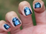 31 Day Nail Art Challenge (September 2017-#31DC2017) Bllue Galaxies Nail Art