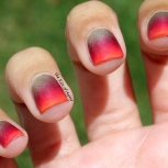 31 Day Nail Art Challenge (September 2017 - #31DC2017) Neon Tipped Gradient Nail Art