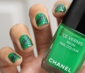 31 Day Global Nail Art Challenge (September 2017) - Day Four: Nature Inspired Double Stamped Green Nails (#31DC2017)