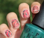 31 Day Nail Art Challenge (September 2017-#31DC2017) Washington DC Collection Watermarble ft. OPI Nail Art
