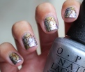 31 Day Nail Art Challenge (September 2017 - #31DC2017) Metallic Sponged and Stamped Nail Art ft. Born Pretty Store Time Travel stamping plates