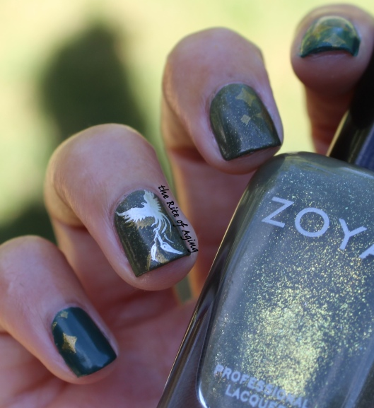 31 Day Nail Art Challenge (September 2017-#31DC2017) Inspired by the Supernatural Double Stamping Nail Art